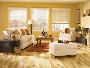 Wood blinds in Los Angeles and green design